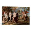 iCanvasArt 'The Judgment of Paris' by Peter Paul Rubens Painting Print on Canvas