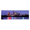 iCanvas Panoramic U.S. Texas, Austin, Skyline, Night Photographic Print on Canvas