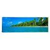 iCanvasArt Panoramic Tetiaroa Atoll French Polynesia Tahiti Photographic Print on Canvas