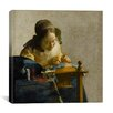 """iCanvasArt """"The Lacemaker"""" Canvas Wall Art by Johannes Vermeer"""