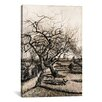 <strong>iCanvasArt</strong> 'The Parsonage Garden at Nuenen in Winter' by Vincent Van Gogh Painting Print on Canvas