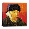 """iCanvas """"Self-Portrait with Bandaged Ear and Pipe"""" Canvas Wall Art by Vincent Van Gogh"""