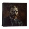 "iCanvasArt ""Self-Portrait with Pipe"" Canvas Wall Art by Vincent Van Gogh"