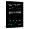 iCanvas Space Invaders  Battle Stage Graphic Art on Canvas