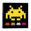 <strong>iCanvasArt</strong> Space Invaders - Big Yellow Invader Canvas Wall Art