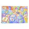 iCanvasArt Kids Children Toy Blocks Canvas Wall Art