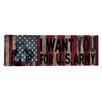 "iCanvas Flags Uncle Sam, James Montgomery ""I Want You for U.S. Army"" Panoramic Graphic Art on Canvas"