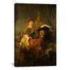 <strong>iCanvasArt</strong> 'Self-Portrait with Saskia in the Parable of the Prodigal Son' by Rembrandt Painting Print on Canvas