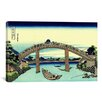 iCanvasArt 'Under Mannen Bridge at Fukagawa' by Katsushika Hokusai Painting Print on Canvas