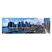 iCanvas Panoramic Traffic on a Bridge, Brooklyn Bridge, Manhattan, New York City, New York State Photographic Print on Canvas