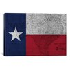 iCanvas Flags Texas Map Graphic Art on Canvas