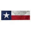iCanvasArt Texas Flag, Map Panoramic Graphic Art on Canvas