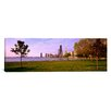 iCanvas Panoramic Trees in a Park with Lake and Buildings in the Background, Lincoln Park, Lake Michigan, Chicago, Illinois Photographic Print on Canvas