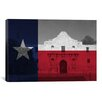<strong>iCanvasArt</strong> Flags Texas The Alamo Graphic Art on Canvas