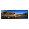 iCanvas Panoramic Wolf Standing on a Rock at The Riverbank, U.S Glacier National Park, Montana Photographic Print on Canvas
