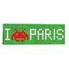 <strong>iCanvasArt</strong> Space Invaders I Invade Paris Tile Graphic Art on Canvas