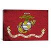 iCanvas Flags U.S. Marine Grunge Painted Graphic Art on Canvas