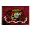 iCanvas Flags U.S. Marine Grunge Vintage Soldiers Graphic Art on Canvas