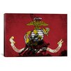 iCanvas Flags U.S. Marine Iwo Jimo War Memorial Grunge Graphic Art on Canvas