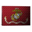 iCanvas Flags U.S. Marine Metal Grunge Graphic Art on Canvas