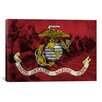 iCanvas Flags U.S. Marine Modern Soldiers Graphic Art on Canvas