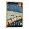"iCanvas ""Sudden Shower Over Shin-Ohashi Bridge and Atake, 1857"" Canvas Wall Art by Utagawa Hiroshige l"