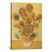 iCanvasArt 'Sunflowers 1888' by Vincent Van Gogh Painting Print on Canvas