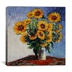 "<strong>iCanvasArt</strong> ""Sunflowers"" Canvas Wall Art by Claude Monet"