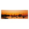 iCanvasArt Panoramic Silhouette of Sailboats in a Lake, Lake Michigan, Chicago, Illinois Photographic Print on Canvas