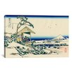iCanvas 'Tea House at Koishikawa the Morning After a Snowfall' by Katsushika Hokusai Painting Print on Canvas