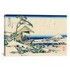 iCanvas 'Tea House at Koishikawa the Morning After a Snowfall' by Katsushika Hokusai Painting Print on Canvas