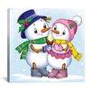 "iCanvas ""Two Snowmen"" Canvas Wall Art by Olga and Aleksey Drozdov"