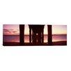iCanvas Panoramic Manhattan Beach Pier, Manhattan Beach, Los Angeles County, California Photographic Print on Canvas