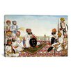 iCanvasArt Thakur Dawlat Singh Among Courtiers Painting Print on Canvas