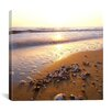 """iCanvasArt """"Sunrise at the Ocean"""" Canvas Wall Art by Carl Rosen"""