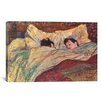iCanvasArt 'The Bed' by Henri De Toulouse-Lautrec Painting Print on Canvas