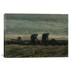 "iCanvasArt ""Two Women on the Heath' by Vincent Van Gogh Painting Print on Canvas"
