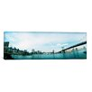 iCanvas Panoramic Two Bridges Across a River, Brooklyn bridge, Manhattan Bridge, East River, Brooklyn, New York City, New York State Photographic Print on Canvas