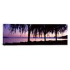 iCanvas Panoramic Weeping Willows, Lake Geneva, St. Saphorin, Switzerland Photographic Print on Canvas