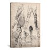 <strong>iCanvasArt</strong> 'Sketchbook Studies of Human Legs' by Leonardo da Vinci Painting Print on Canvas