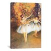 iCanvas 'Two Dancers on Stage (Alla Barra)' by Edgar Degas Painting Print on Canvas