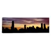 iCanvas Panoramic Silhouette of Skyscrapers at Sunset, Manhattan, New York City, New York State Photographic Print on Canvas