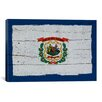 <strong>iCanvasArt</strong> Flags West Virginia with Wood Planks Graphic Art on Canvas