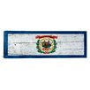 <strong>iCanvasArt</strong> Flags West Virginia Wood Planks Panoramic Graphic Art on Canvas