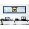 iCanvasArt Flags West Virginia Wood Planks Panoramic Graphic Art on Canvas