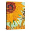 iCanvasArt 'Twelve Sunflowers (Detail)' by Vincent Van Gogh Painting Print on Canvas