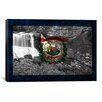 iCanvas Flags West Virginia Blackwater-Falls Graphic Art on Canvas