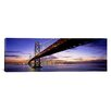 iCanvas Panoramic Twilight, Bay Bridge, San Francisco, California Photographic Print on Canvas