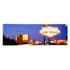 <strong>iCanvasArt</strong> Panoramic Welcome Sign Las Vegas NV Photographic Print on Canvas