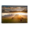 "iCanvasArt ""Wet Mountain Barn l"" Canvas Wall Art by Dan Ballard"